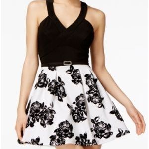 Crystal Doll Black & White Dress